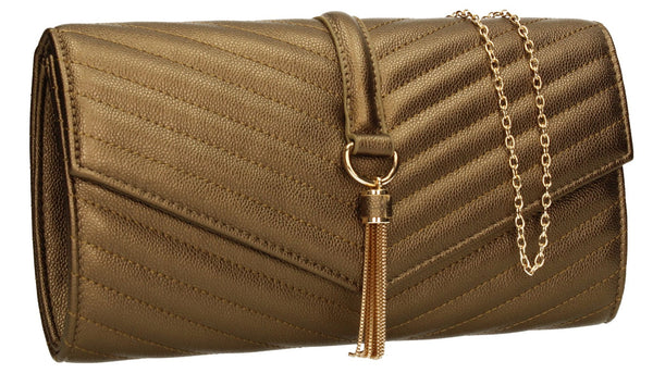 SWANKYSWANS Temperley Clutch Bag Bronze Cute Cheap Clutch Bag For Weddings School and Work