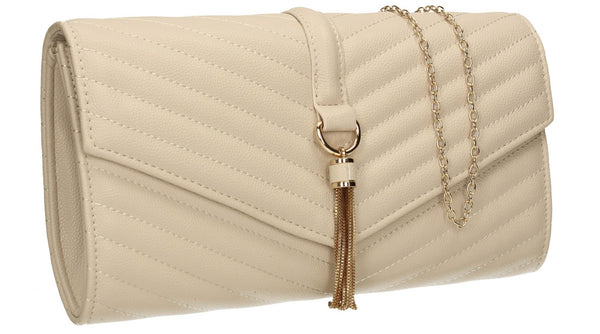 SwankySwans Temperley Clutch Bag Ivory Clutch Bag Flapover Ivory Party Faux Leather Wedding