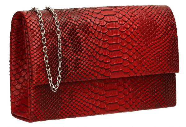 SWANKYSWANS Verna Clutch Bag Red Cute Cheap Clutch Bag For Weddings School and Work