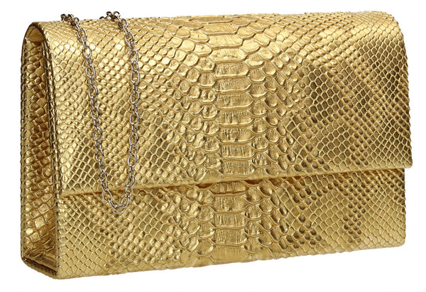 SWANKYSWANS Verna Clutch Bag Gold Cute Cheap Clutch Bag For Weddings School and Work