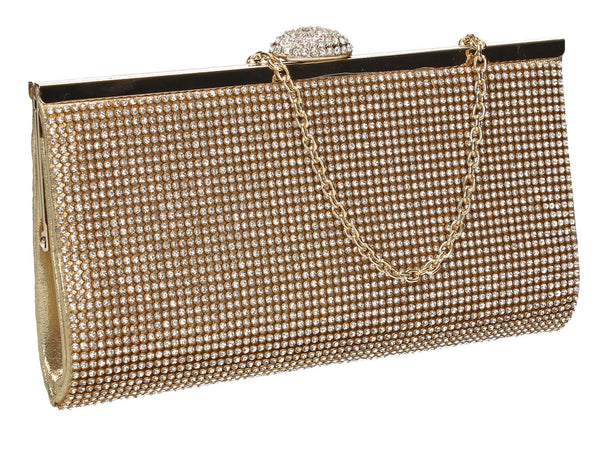SWANKYSWANS Wendy Clutch Bag Gold Cute Cheap Clutch Bag For Weddings School and Work