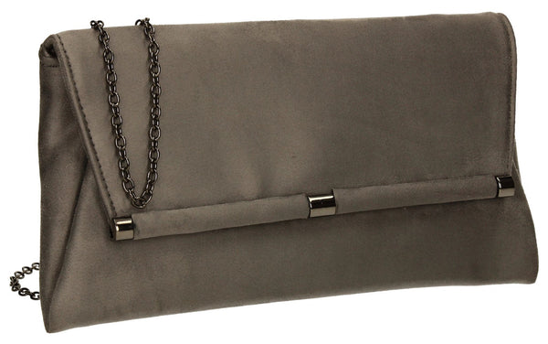 SWANKYSWANS Pamela Clutch Bag Grey Cute Cheap Clutch Bag For Weddings School and Work