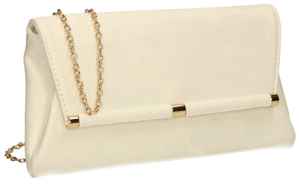 SWANKYSWANS Pamela Clutch Bag Ivory Cute Cheap Clutch Bag For Weddings School and Work