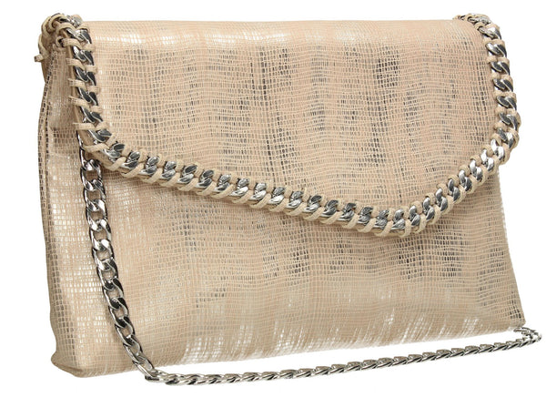 SWANKYSWANS Stella Clutch Bag Champagne Cute Cheap Clutch Bag For Weddings School and Work