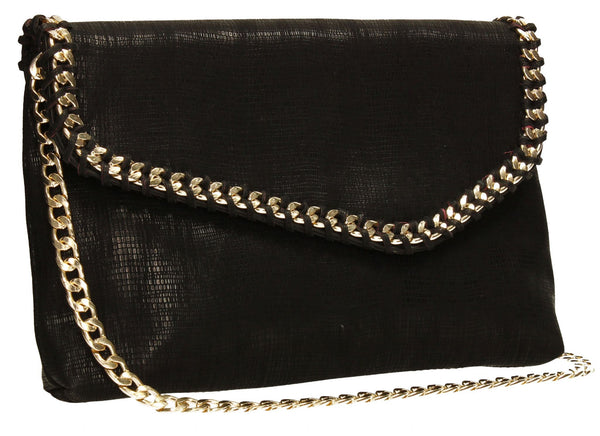 SWANKYSWANS Stella Clutch Bag Black Cute Cheap Clutch Bag For Weddings School and Work