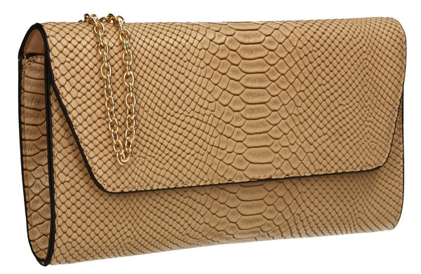 SWANKYSWANS Ormy Clutch Bag Beige Cute Cheap Clutch Bag For Weddings School and Work