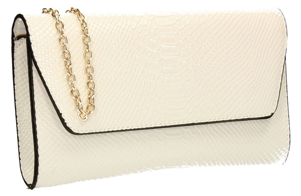 SWANKYSWANS Ormy Clutch Bag White Cute Cheap Clutch Bag For Weddings School and Work