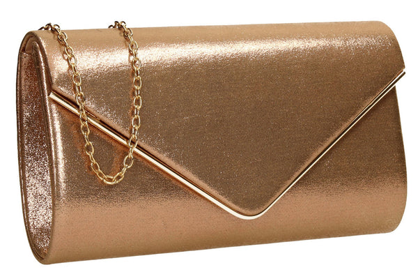 SWANKYSWANS Olivia Clutch Bag Champagne Cute Cheap Clutch Bag For Weddings School and Work