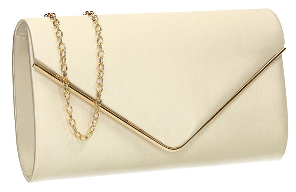 SWANKYSWANS Olivia Clutch Bag Beige Cute Cheap Clutch Bag For Weddings School and Work