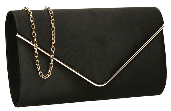 SWANKYSWANS Olivia Clutch Bag Black Cute Cheap Clutch Bag For Weddings School and Work