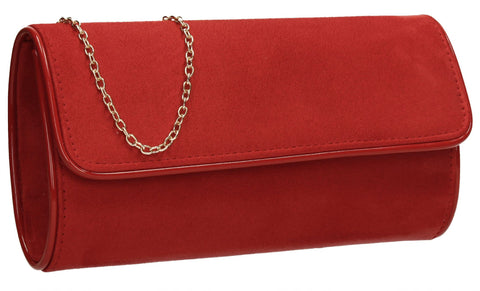 SWANKYSWANS Jamie Clutch Bag Red Cute Cheap Clutch Bag For Weddings School and Work