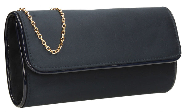 SWANKYSWANS Jamie Clutch Bag Navy Cute Cheap Clutch Bag For Weddings School and Work