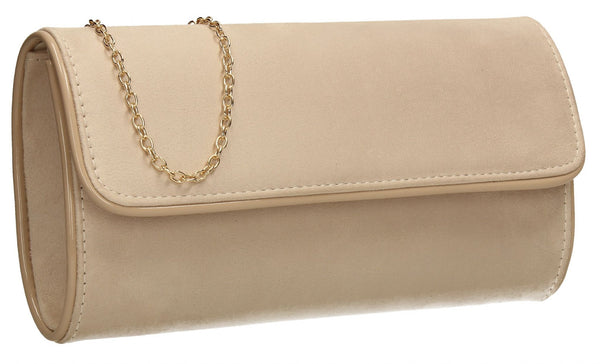 SWANKYSWANS Jamie Clutch Bag Beige Cute Cheap Clutch Bag For Weddings School and Work