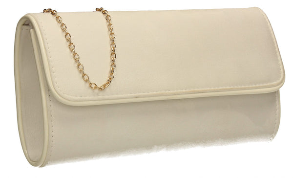 SWANKYSWANS Jamie Clutch Bag White Cute Cheap Clutch Bag For Weddings School and Work
