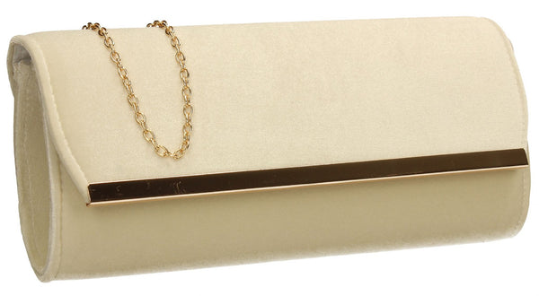 SWANKYSWANS Serena Clutch Bag Ivory Cute Cheap Clutch Bag For Weddings School and Work