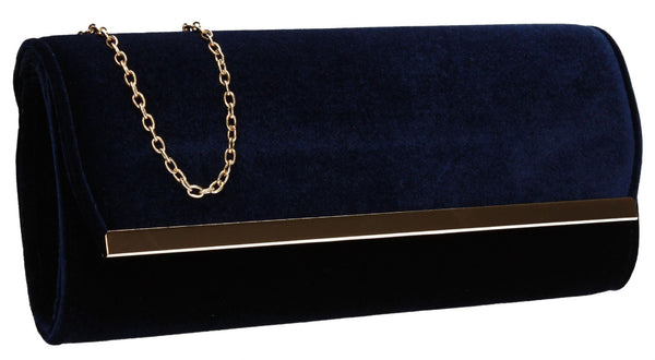 SWANKYSWANS Serena Clutch Bag Navy Cute Cheap Clutch Bag For Weddings School and Work