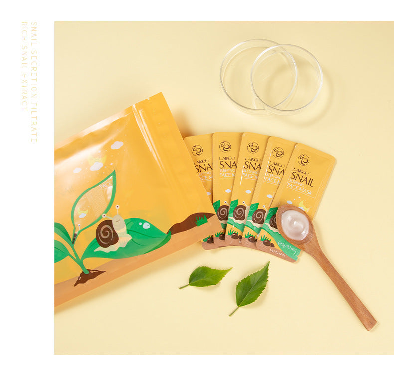 LAIKOU 20Pcs/Pack Snail Extract Sleeping Face Mask-Beauty Product-1stAvenue