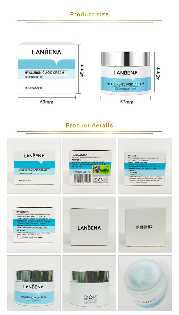 LANBENA Hyaluronic Acid Facial Cream 40g-Beauty Product-1stAvenue