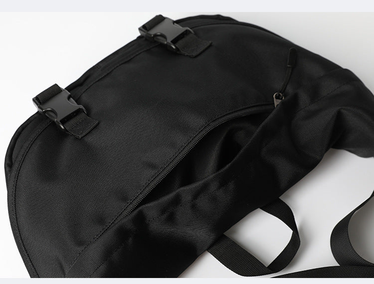 End & Start Shoulder bag crescent bag buckle bag men's messenger bag casual waterproof nylon messenger bag-Fashion Bag-1stAvenue