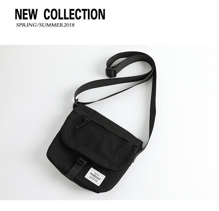 End & Start Messenger bag men's trendy brand shoulder bag canvas boys diagonally small bag shoulder bag-End & Start-1stAvenue