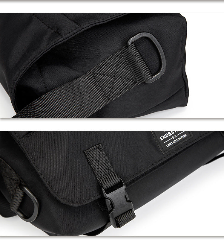 End & Start shoulder bag ins diagonal school bag messenger messenger bag men's bag men's shoulder bag dead fly tooling backpack boys-End & Start-1stAvenue