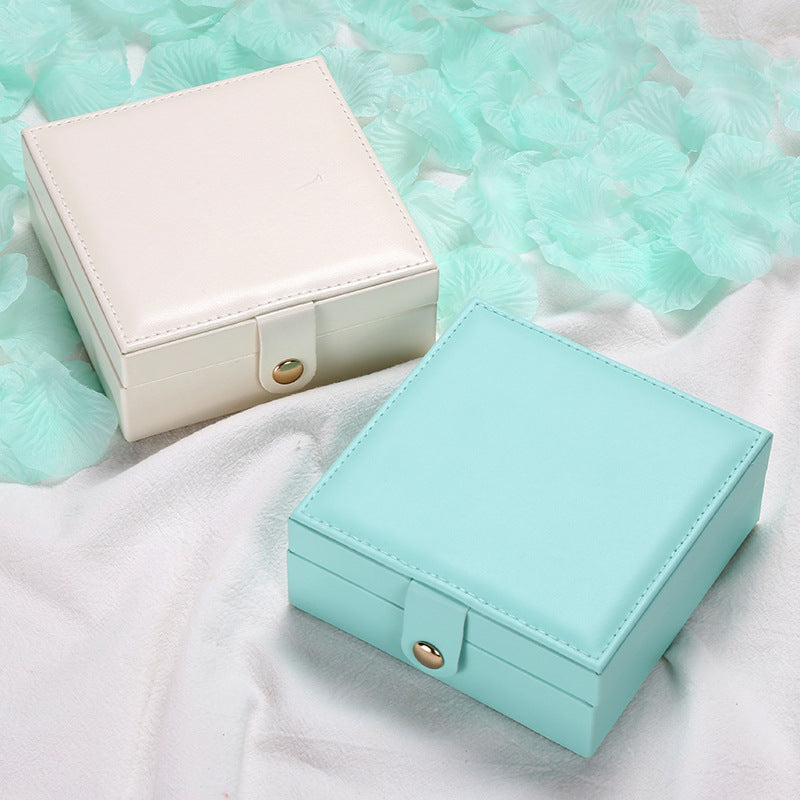 Jewellry box Creative portable jewelry Travel jewelry box Stud earrings ring small jewelry box-Travel Organizer-1stAvenue