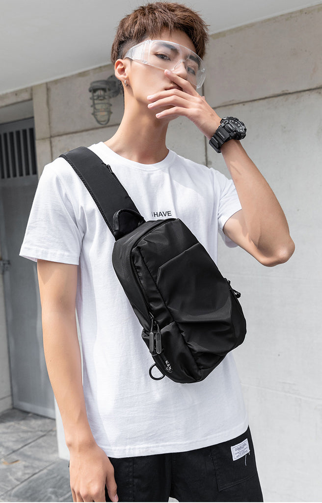 End & Start Men's chest bag simple single shoulder messenger bag 2701-End & Start-1stAvenue