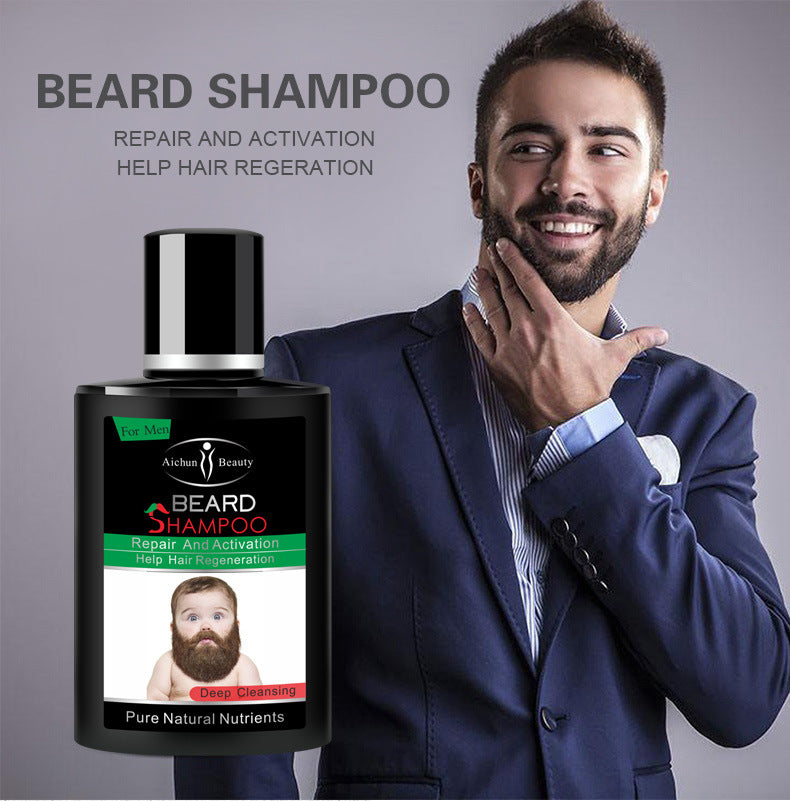 Aichun Beauty deep cleansing Men Liquid Beard shampoo Repair and Activation help hair regeneration-Beauty Product-1stAvenue