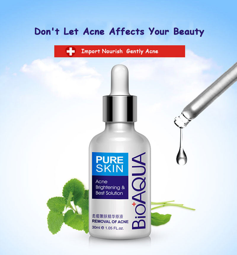 BIOAQUA Skin Care Face Acne Treatment Acne Scar Removal Cream Acne Spots Whitening Moisturizing Essential Oil 30ml-Skin care-1stAvenue
