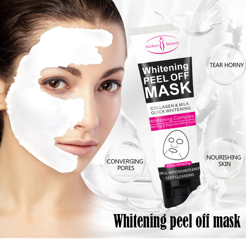 Aichun120ml Blackhead Remover Deep Cleansing Purifying Peel Off Acne Milk Face Mask - 1stAvenue