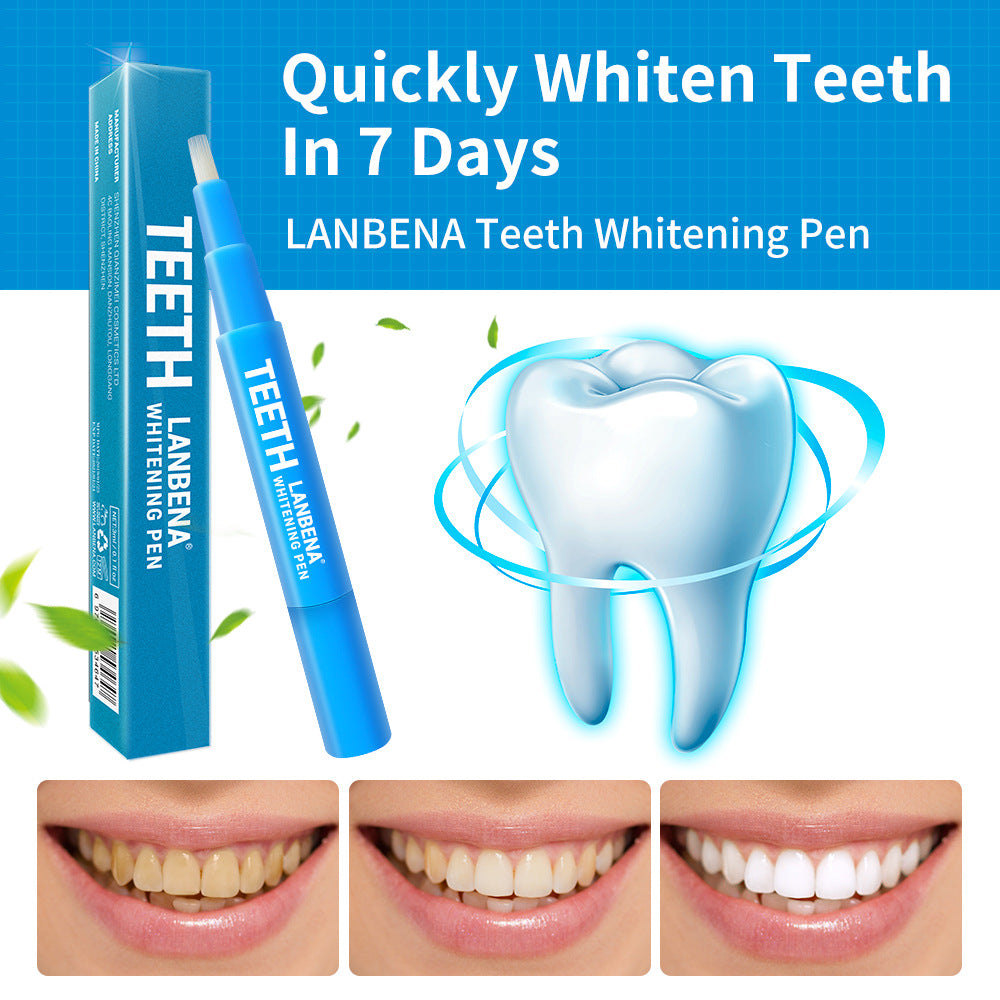 LANBENA Teeth Whitening Pen Tartar Buildup Teeth Clean Serum Brush Oral Hygiene Essence Removes Plaque Stains Dental Tools - 1stavenue
