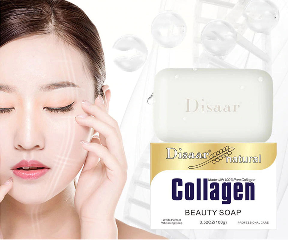 Disaar Collagen Handmade Soap Face Cleanser Nourishing Deep Cleaning Skin Care Whitening Anti-wrinkle Anti-aging - 1stavenue