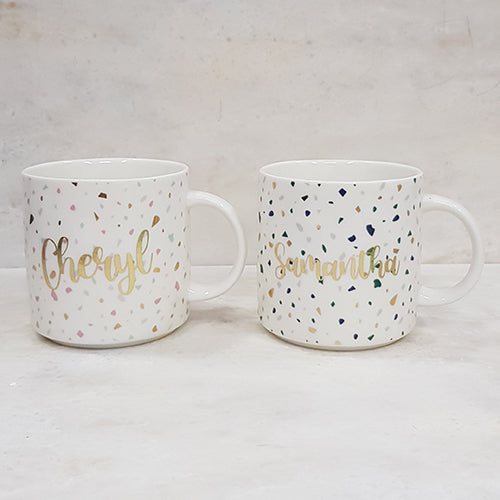 Personalised Gift Terrazzo Mugs Customised Cups-Personalised Gift-1stAvenue