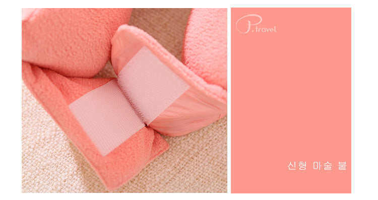 3-in-1 U-shaped travel pillow travel storage folding blanket patented product-Travel Organizer-1stAvenue