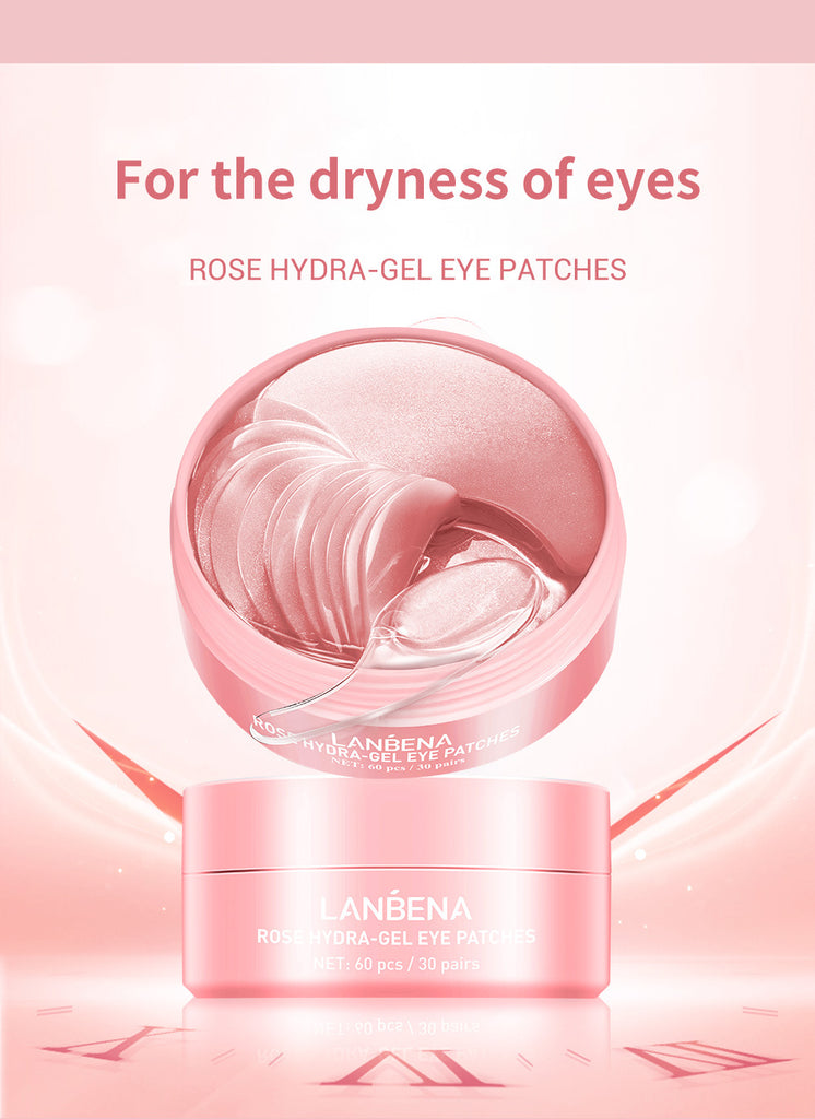 LANBENA Rose Hydra Gel Eye Patches 60pc-Beauty Product-1stAvenue