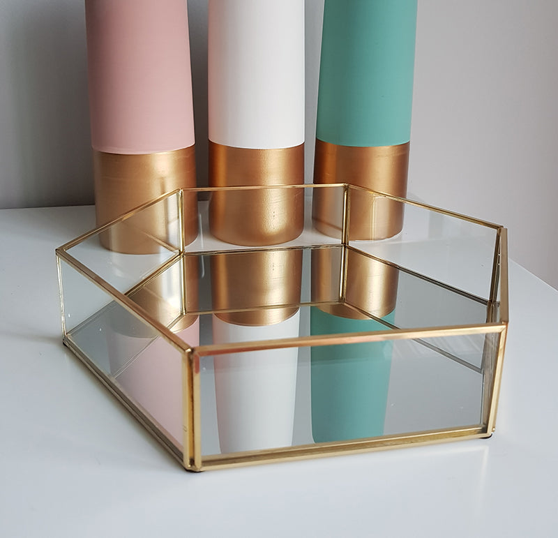 Gold geometric terrarium/ring boxes (Hexagon Tray) - 1stAvenue