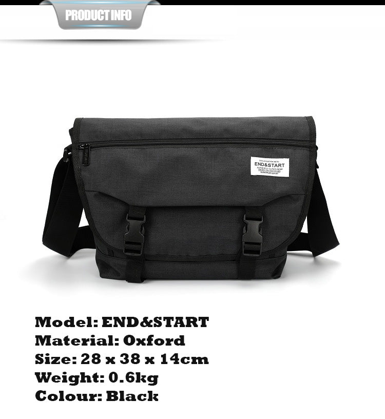 End & Start Shoulder bag Oxford cloth student bag casual messenger bag male bag-End & Start-1stAvenue