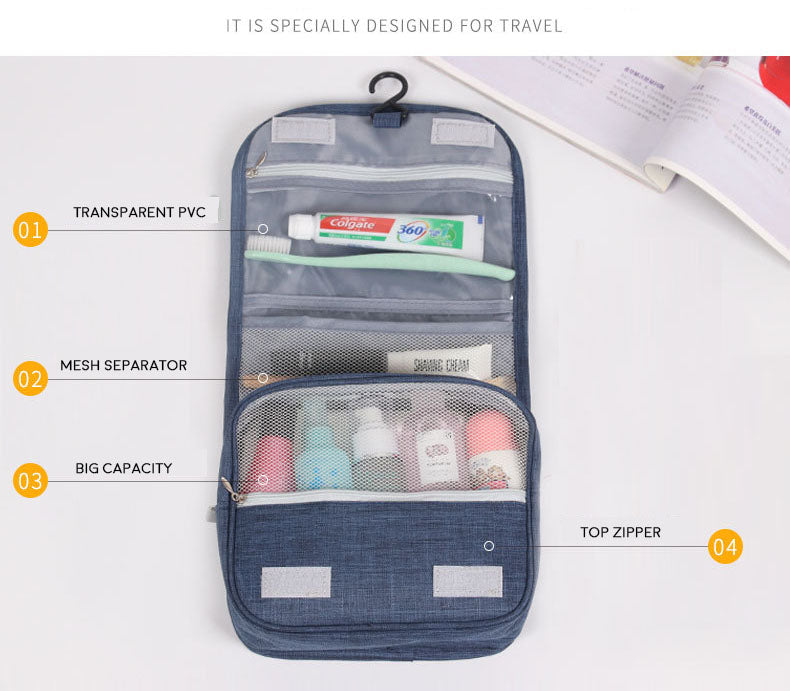 Korea Hanging Travel Big Cosmetic Toiletry Bag-Travel Organizer-1stAvenue