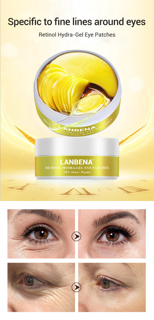 LANBENA Face Mask Retinol Collagen Eye Patch Gel Anti Aging Moisturizing Tighten Eye Skin Fade Fine Lines-Skin care-1stAvenue