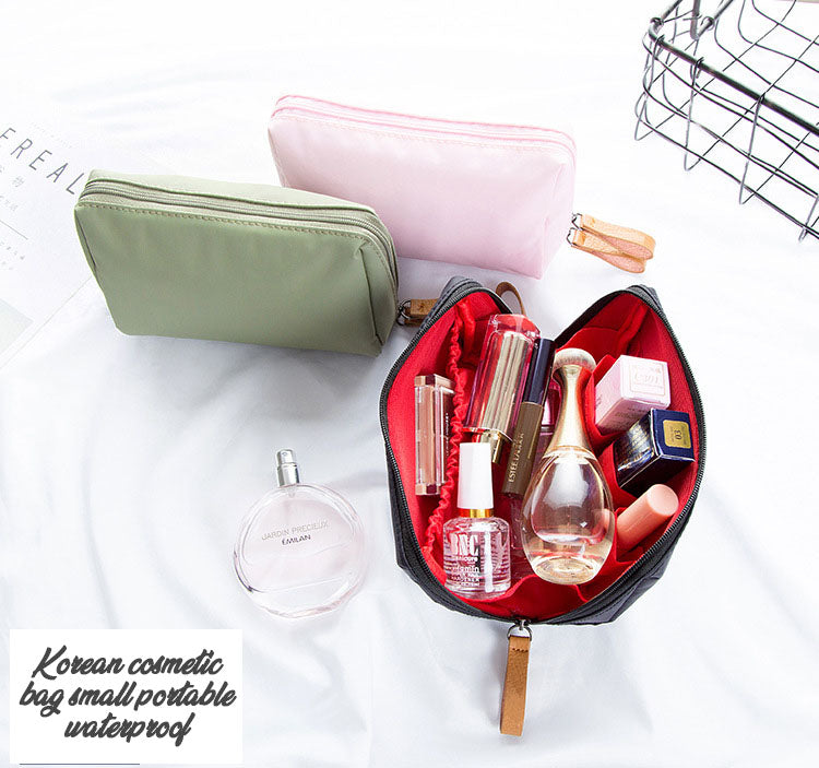 New Korean cosmetic bag small portable waterproof storage bag lady mini clutch bag-Travel Organizer-1stAvenue