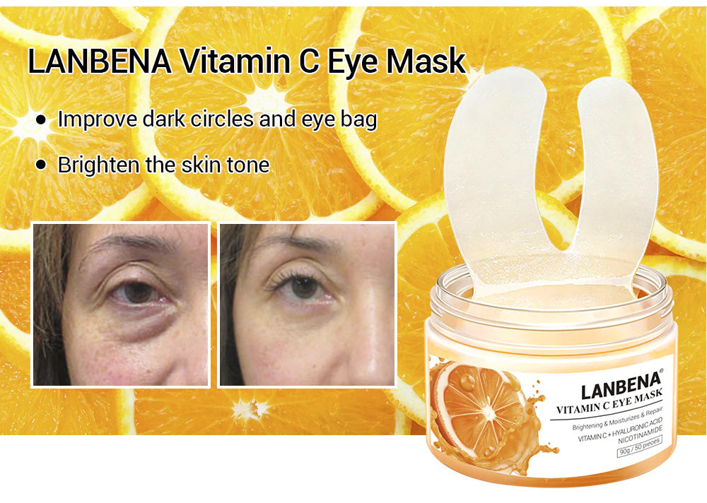 LANBENA Vitamin C Eye Mask 50 sheets-Skin care-1stAvenue