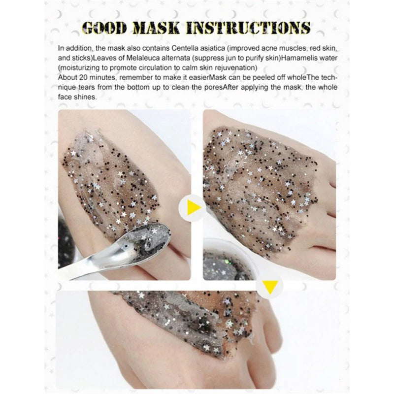 Covercoco Star Mask Glitter Peel Off Mask Blackhead Removal Shrink Pores Firming Moisturizing Facial Mask - 1stavenue