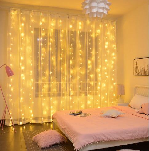 3m x 2m Curtain Fairy Lights 200 Led String Lights Plug-Fairy Lights-1stAvenue