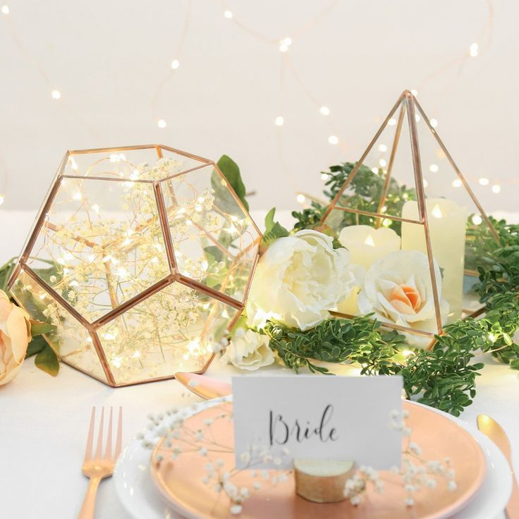 Gold geometric terrarium/ring boxes (Octagon Ball)-Geometric Terrarium-1stAvenue