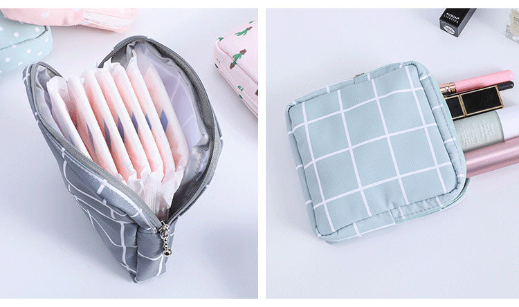 Sanitary napkin storage bag and cosmetic pouch-Travel Organizer-1stAvenue