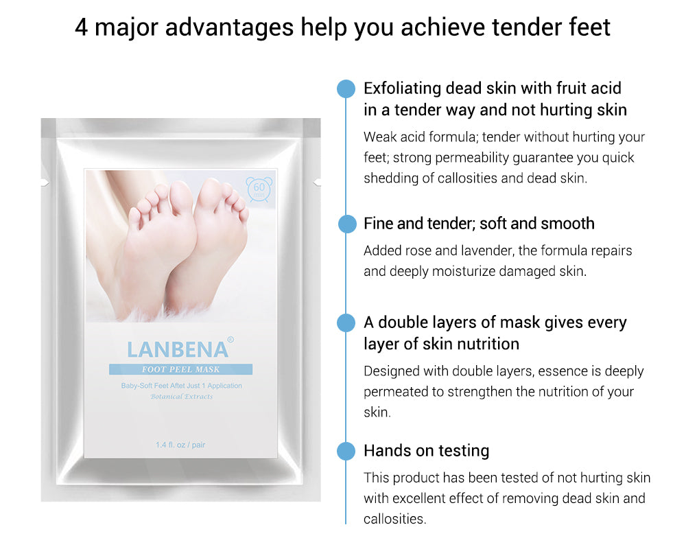 LANBENA Foot Peeling Mask-Skin care-1stAvenue