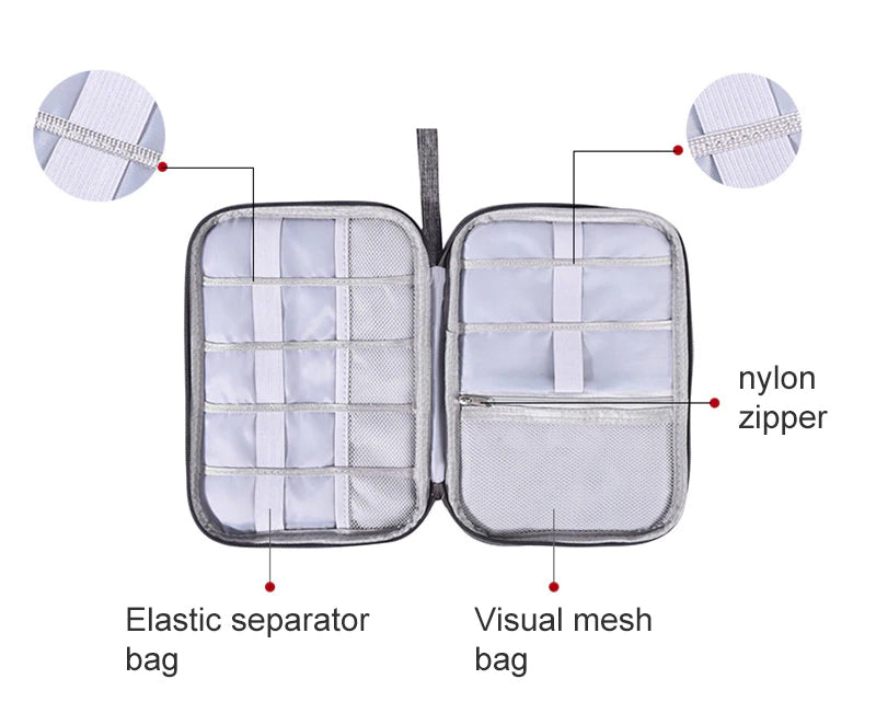 Portable Travel Digital Storage Bag Multifunction Empty USB Date Cable Earphone Wire Charger Organizer Travel Kit Case Pouch-Travel Organizer-1stAvenue