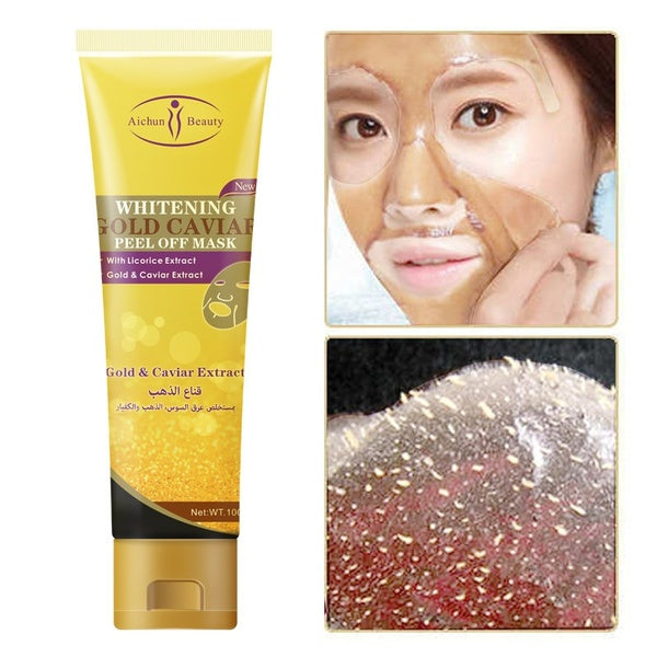 Gold Caviar Black Mask Face Care Acne Blackhead Removal Treatment - 1stAvenue