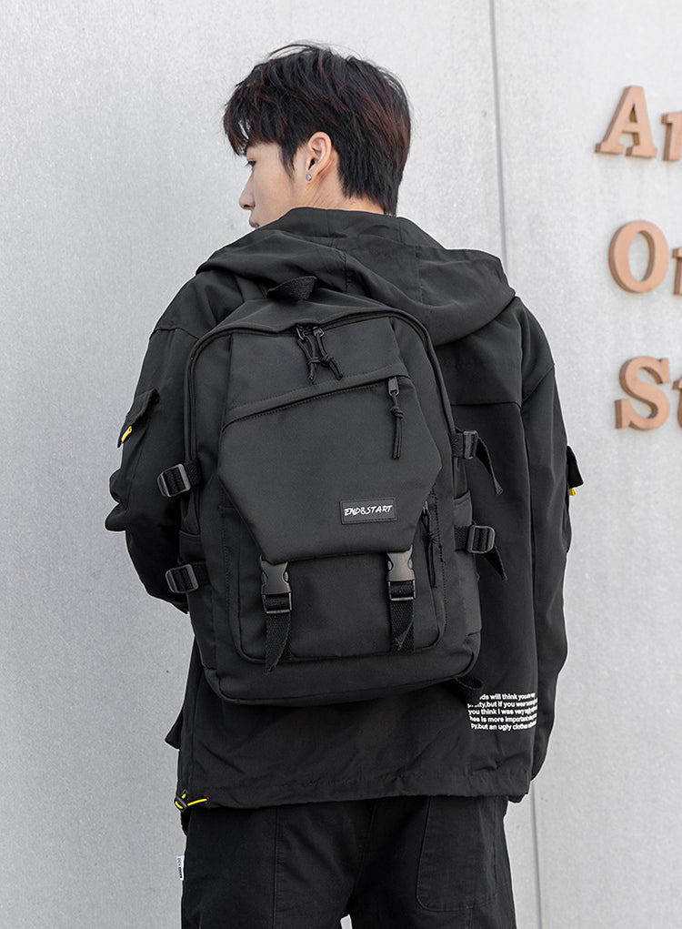 End & Start backpack ins schoolbag Korean version 2062-Fashion Bag-1stAvenue