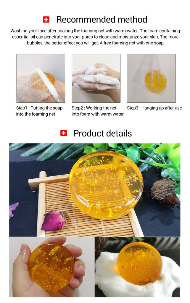 LANBENA 24K Gold / Hyaluronic Acid / Seaweed+Tea Tree Handmade Soap Facial Cleansing Moisturizing Anti-Aging Whitening Face-Beauty Product-1stAvenue